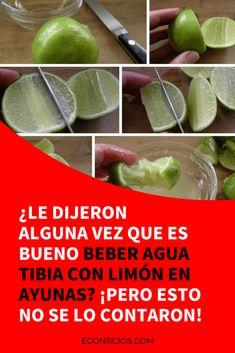 Agua con limon en ayunas