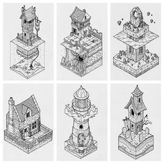 Some recent isometric commissions. Message me if you'd like one. #isometric #illustration #commissions