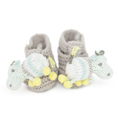 Hippo Rattle Booties
