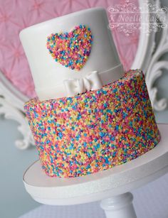 Sprinkles cake by K Noelle Cakes Jojo Siwa Birthday Cake, Birthday Cake Girls, Rainbow Birthday, Unicorn Birthday Parties, 8th Birthday, Birthday Ideas, Beautiful Cakes, Amazing Cakes, Sprinkle Party