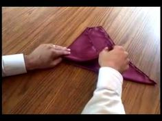 How to fold a pocket square :) always looks nice.