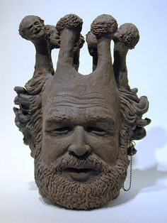 Robert Arneson was a man who had humor ...  he showed it in his work = great messages!