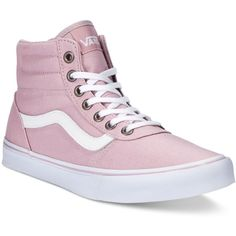 Vans Women's Milton Hi Canvas High-Top Sneaker ($65) ❤ liked on Polyvore featuring shoes, sneakers, canvas trainers, canvas hi tops, high top shoes, high top sneakers and high top canvas shoes