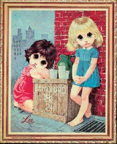 Vintage Big Eyed Art - Lemonade Stand - by Lee.