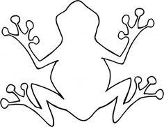 Outline Of Cartoon Frog - ClipArt Best
