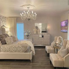 Room Decor Bedroom Rose Gold, Room Ideas Bedroom, Dream Bedroom, Guest Bedrooms, Coastal Bedrooms, Luxurious Bedrooms, House Rooms, Home Living Room, Decoration