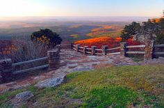 Top of the World ~ sunset view from the Cameron Bluff overlook at Mt. Magazine State Park near Paris Arkansas.