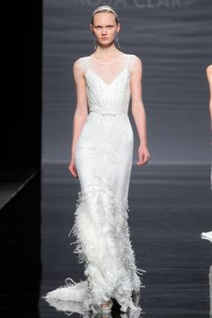Wedding Dresses - Love the feathers on this Rosa Clara trumpet