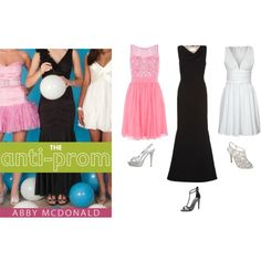 """Costumes based on Bliss, Jolene, and Meg from """"The Anti-Prom"""" by Abby McDonald"""