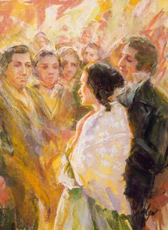 Joseph Smith Jr. and Emma Hale Smith. By Julie Rogers.
