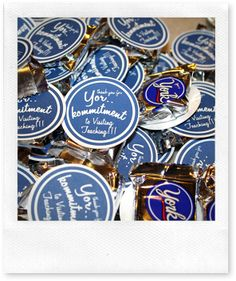 Thanks for Yor-Kommitment to visiting teaching!  Attach it to a York Peppermint Patty