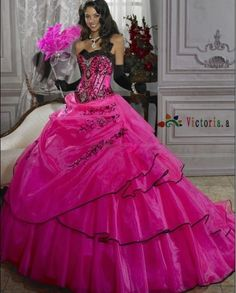 Custom Red Quinceanera Dress Wedding Dresses Bridal Prom Ball Gowns Size 6 - 16