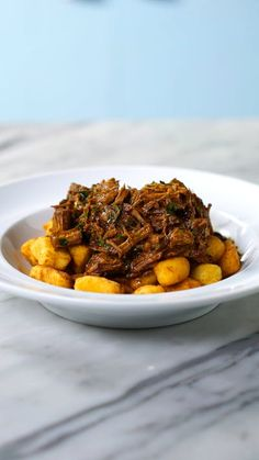 You don't even gnocchi how good this pot roast is... every single fried gnocchi bite!