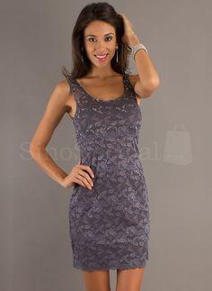 Beautiful Black Straps Mini Lace Evening Dress