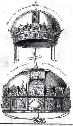 János Fülöp Binder, The Holy Crown of Hungary, Hungary History, Greek Mythology Gods, Byzantine Gold, Royal Crowns, Folk Fashion, Wood Engraving, Crown Jewels, Female Images, Coat Of Arms