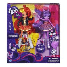 Amazon.com: My Little Pony Equestria Girls Sunset Shimmer and Twilight Sparkle Figures: Toys & Games