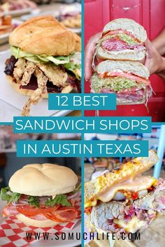 I love a good sandwich! I can't be the only one?! Here are the twelve best sandwich shops in Austin. #austintexas #visitsaustin #atxeats