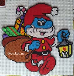 Santa Papa Smurf hama beads by NAT42