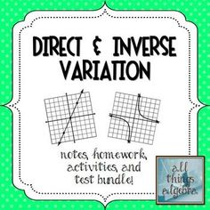 Direct Variation Algebra