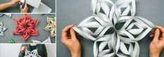 Hängen Sie etwas bezauberndes vor dem Fenster oder in den Weihnachtsbaum! Diese 3D-Schneeflocken aus Papier sind wirklich ein Bastelvergnügen!
