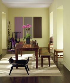 room painted with pale sea mist in benjamin moore - Google Search
