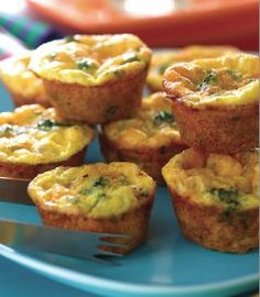 Mini Frittatas-Easy appetizer recipes like these unique Mini Frittatas, are not only great for a crowd, but are fun for brunch too! With so few ingredients, but still loaded with flavor, these little bites are super easy to make right in your muffin pan. Yields: 24