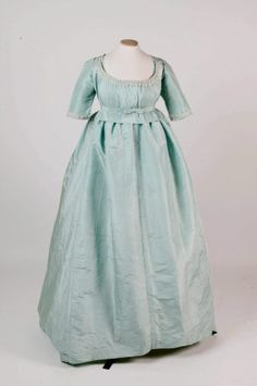 UK National Trust Inventory Number 603182.1   1775-1780 Springhill Collection   Pale blue silk tabby