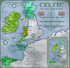 The basic idea is a map of Western Europe and Great Britain, in which the only playable territories are the traditional Celtic 7 nations. Until the 2nd century BC The Celts lived across the whole of central and western Europe. Around the reign of Julius Caeser the Romans began to push the Celts out of mainland Europe, until they were limited to the fringes of western Europe and the Islands of Great Britain and Ireland. Later in AD times the Normans invaded great Britain and pushed the Celts…