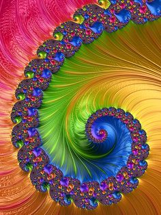 Another spiral fractal for you and your home. Bright colours for the dullest days. Buy now from: Mo Barton: Artist Website Mermaid Wallpaper Backgrounds, Love Wallpaper, Rainbow Wallpaper, Old Paper Background, Photo Background Images, Feel Good Pictures, Pretty Pictures, Sacred Geometry Symbols, Art Optical