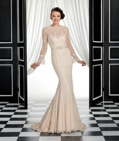 Eddy K Wedding Dresses. Color:Champagne
