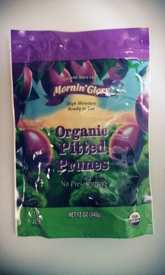 Mornin' Glory, Pitted Prunes, Organic, 12oz ** Click on the image for additional details.