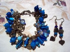 Pentacle Ankh Celtic Knot Charm Bracelet and Earrings | BriarRose - Jewelry on ArtFire