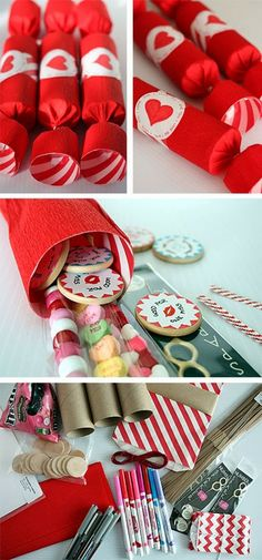 {Make It} Surprise Valentines Crackers ...link to instructions...buy your own cracker snaps at the craft store....change these up for Christmas or Advent Calendars, and other special occasions...wedding favors, anniversaries, birthdays...