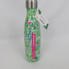 Lilly Pulitzer Starbucks S Well Palm Beach Jungle Swell Ltd Ed Water Bottle  NWT 3aa672a739047