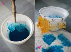 ombre lace jewelry DIY | Glamour and Grace