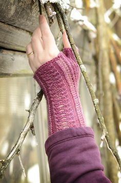 Ravelry: Interstices pattern by Hunter Hammersen Pattern Library, Fingerless Gloves, Arm Warmers, Pretty In Pink, Ravelry, Needlework, Knitting Patterns, Fancy, Pairs