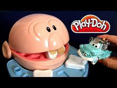 NEW Dentist Play-Doh Doctor Drill n Fill Senior Patient Disney Pixar Cars Toons Dr. Mater play doh
