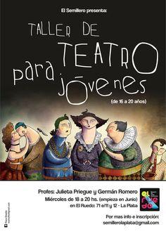 Cartel y folletos para Taller de Teatro - La Plata