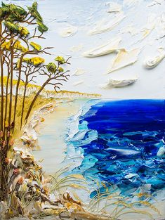 30x40 - Acrylic on Canvas - Seascape Series- Artist, Justin Gaffrey