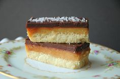 Salted Caramel Chocolate Shortbread Bars - Four and Twenty Blackberries