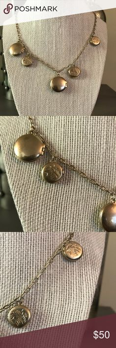 J. Crew Gold Locket Necklace Gold tone. Long necklace. J. Crew Jewelry Necklaces