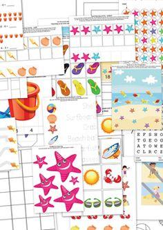 B for Beach Preschool Beach Printable Pack Beach Theme Preschool, Beach Activities, Preschool Themes, Preschool Printables, Summer Activities For Kids, Preschool Crafts, Free Preschool, Free Printables, Preschool Lesson Plans