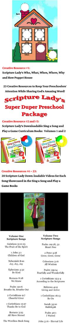90 best preschool bible lessons images on pinterest preschool scripture ladys super duper preschool package 23 creative resources to keep your preschoolers attention fandeluxe Gallery