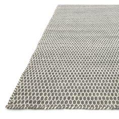 Hand-woven Poplin Charcoal Wool/ Cotton Rug (7'10 x 11) | Overstock.com Shopping…