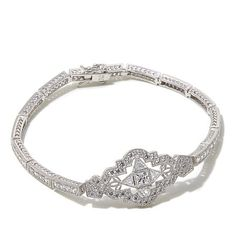 Xavier Absolute™ Princess-Cut Sterling Silver Bracelet