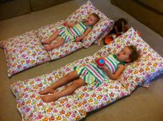 4 pillow cases sewn together. Cosy alternative to a bean bag