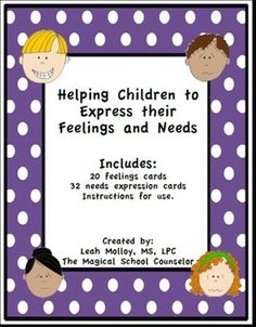 These cards will help students who have a difficult time verbalizing their feelings and advocating for themselves. These cute and simple cards can be used in a variety of different ways. 1) Can be turned into a coping skills key ring. Students can easily flip through the cards and identify feelings and needs.2) Can be used as an assessment tool for those non-verbal students.3) Can be turned into a memory matching game4) Can be used to practice coping skills 5) Can be used to teach students…