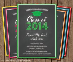 Chalkboard Graduation Announcement or by InvitationCeleb on Etsy
