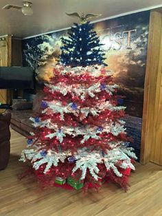Our VFW Post 2442 in Eldon, MO has the coolest Christmas tree! ~ Shawna Martin's Facebook page.