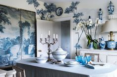 Room design ideas for decorating with something blue